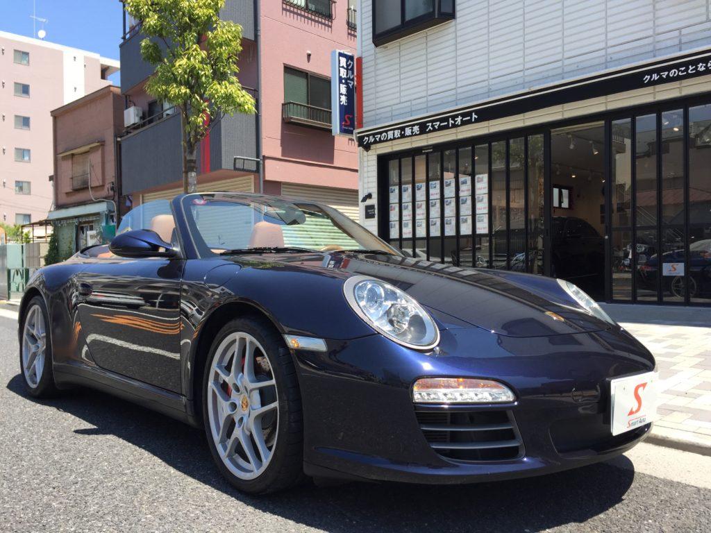 外車・輸入車のお買取ならスマートオートへ! 高価お買取をさせていただきました<ポルシェ 911 カレラ4S カブリオレ>